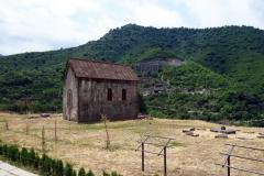 Liten kyrka nordväst om huvudkyrkan, Akhtala Monastery, Armenien.