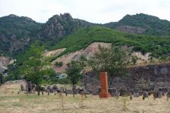 Gravstenar, Akhtala Monastery, Armenien.