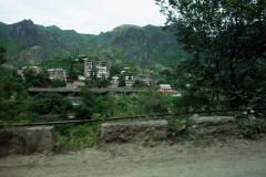Bostadshus i Alaverdi, Armenien.