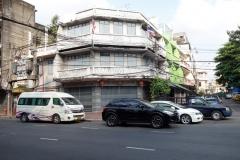 Gatuscen nära Chinatown, Bangkok.