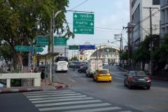 Den rundade byggnaden är Hua Lamphong, centralstationen i Bangkok.