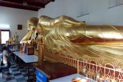 Liggande Buddha, Phra Pathom Chedi, Nakhon Pathom.