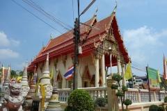 Tempel vid båtterminalen för båtar till Koh Kret, Nonthaburi.