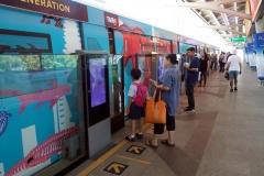 Skytrain på station Chong Nonsi, Bangkok.