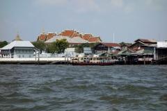 Tha Tien Pier, Chao Praya-floden, Bangkok.