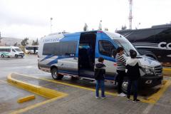 Bussen till San Gil, bussterminalen i Tunja.