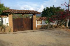 Entrén till La Loma Hotel, Barichara.