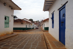 Gatuscen i centrala Barichara.
