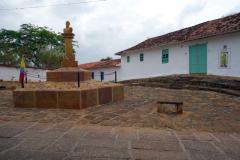 Monument vid entrén till Camino Real, Barichara.