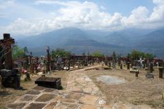 Utsikten över bergen via kyrkogården, Guane.