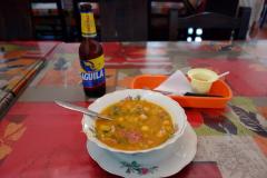 Restaurang El Cabro Patiamarillo, Barichara.