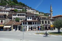 De berömda husen i centrala Berat.