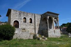 Historisk byggnad i centrala Berat.