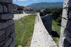 Del av slottsmuren, Berat Castle, Berat.