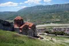Holy Trinity Church byggd på 1200- eller 1300-talet, Berat Castle, Berat.
