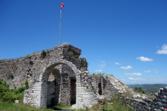 Del av den inre slottsmuren, Berat Castle, Berat.