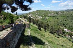 Del av den östra slottsmuren, Berat Castle, Berat.