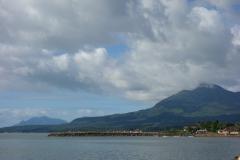 Utsikten från Marvin's Seaside Inn, Naval, Biliran.
