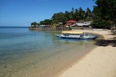 Stranden vid Agta Beach Resort, Agta Beach, Biliran.