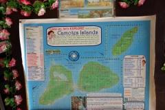 Karta över Camotes islands i receptionen på Santiago Bay Garden & Resort, Pacijan.