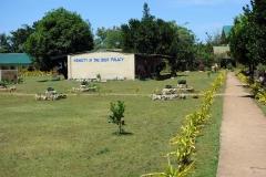 Detta budskap ser man ofta runt om i Visayas. I detta fall på en skola.