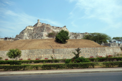 Castillo San Felipe de Barajas, promenaden till Convento de la Popa, Cartagena.