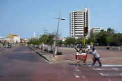 Gatuscen vid Calle 24, Cartagena.