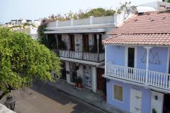 Vy från Las Murallas in mot gamla staden, Cartagena.