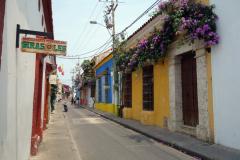 Gatuscen i gamla staden, Cartagena.