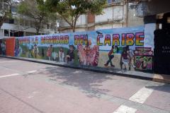 Graffiti vid Plazoleta Benkos Bioho, Cartagena.