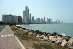 Playa bocagrande på håll, Cartagena.