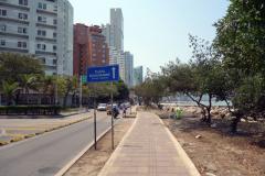 Promenaden till Playa Bocagrande, Cartagena.