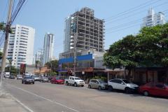 Gatuscen i centrala Bocagrande, Cartagena.