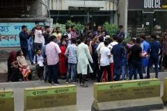 Någon typ av kändis som uppmärksammas i central Chittagong.