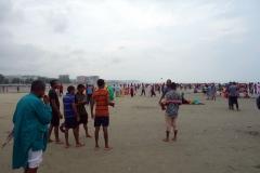 En av världens längsta obrutna sandstränder: Cox's Bazar.