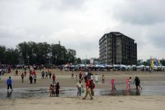 Övergivet ej färdigställt hotell vid stranden i Cox's Bazar.