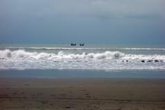 Fiskebåtar i horisonten, Cox's Bazar.