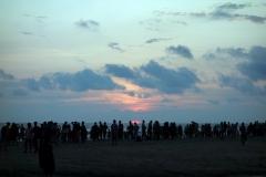 Otroligt vacker solnedgång i Cox's Bazar.