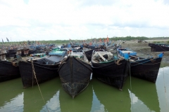 Båtar på stranden, Gorakghata, Maheskhali island.