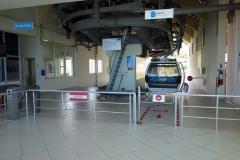 Stationen för linbanan upp till Mount Dajti, Tirana.