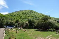 Mount Dajti från linbanestationen.