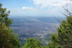 Utsikten från leden över Tirana.