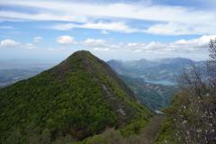 Mount Tujanit från Mount Dajti.