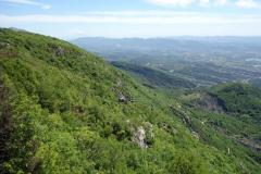 Utsikt i sydlig riktning från utsiktsplatsen vid restaurang Ballkoni Dajtit.