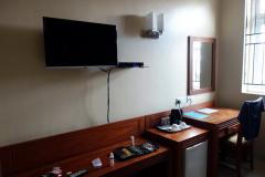 Mitt rum på Chelsea Hotel, Dar es-Salaam.