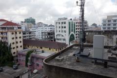 Utsikten från mitt rum på Chelsea Hotel, Dar es-Salaam.