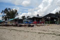 Restauranger längs Coco Beach, Dar es-Salaam.