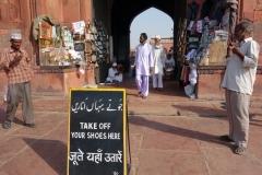 En av entréerna till Jama Masjid Mosque (Fredagsmoskén), Delhi.