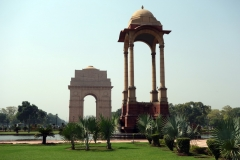 Canopy med India Gate i bakgrunden, Delhi.