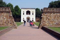 Byggnad på Humajuns grav-komplex, Delhi.